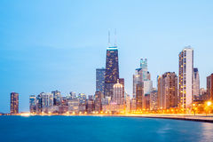 chicago i stadens centrum lake michigan Royaltyfri Bild