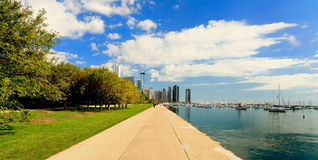 chicago i stadens centrum lakeshore trail Royaltyfri Bild