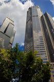 chicago i stadens centrum skyskrapor Arkivbilder