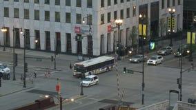 Chicago i stadens centrum trafik - Tid schackningsperiod arkivfilmer