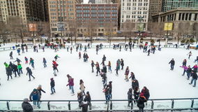 Chicago Ice Skating stock footage