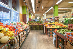 Jewel-Osco. CHICAGO, IL - CIRCA APRIL, 2016: inside Jewel-Osco store. Jewel-Osco is a supermarket chain headquartered in Itasca, Illinois, a Chicago suburb stock images