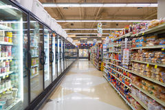 Jewel-Osco. CHICAGO, IL - CIRCA APRIL, 2016: inside Jewel-Osco store. Jewel-Osco is a supermarket chain headquartered in Itasca, Illinois, a Chicago suburb Royalty Free Stock Images