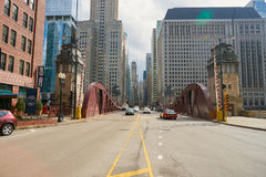 Chicago. IL - CIRCA MARCH, 2016:  downtown in the daytime.  is the third most populous city in the United States Royalty Free Stock Images