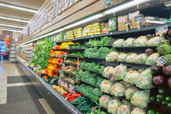 Jewel-Osco. CHICAGO, IL - CIRCA MARCH, 2016: inside Jewel-Osco store. Jewel-Osco is a supermarket chain headquartered in Itasca, Illinois, a Chicago suburb Stock Image