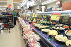 Jewel-Osco. CHICAGO, IL - CIRCA MARCH, 2016: inside Jewel-Osco store. Jewel-Osco is a supermarket chain headquartered in Itasca, Illinois, a Chicago suburb Stock Images