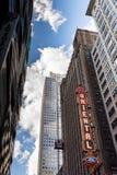 CHICAGO, IL - 22 DE MARÇO: Teatro oriental e rua em março, 20 Imagem de Stock