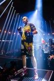 Chicago, IL, Estados Unidos - 10 de noviembre de 2018: Krzysztof Glowacki antes de su combate de boxeo cuarto-final en el pabelló imagen de archivo