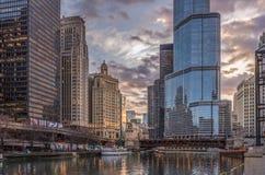 Chicago, IL, EUA, o 6 de abril de 2017: Hotel internacional e torre do trunfo, para o uso editorial somente foto de stock royalty free