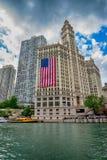Chicago IL-Förenta staterna - Julyl 03, 2017: Turist- fartyg på th Arkivfoton