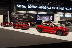 Infinity showroom at the annual International auto-show, February 9, 2019 in Chicago, IL