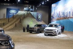 Land Rover showroom and test drive at the annual International auto-show, February 9, 2019 in Chicago, IL
