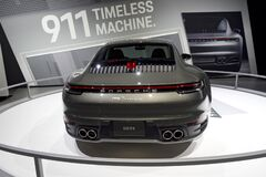 Porsche 911 Carreras at the annual International auto-show, February 9, 2019 in Chicago, IL
