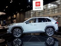 Toyota Rav4 SUV at the annual International auto-show, February 9, 2019 in Chicago, IL