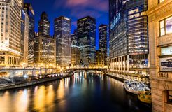 CHICAGO IL horisont USA royaltyfria foton