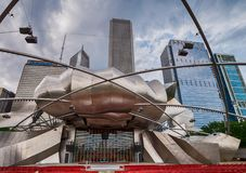 View of the Jay Pritzker Music Pavilion Stock Photos