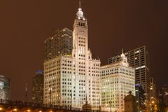 CHICAGO, IL - JULY 11, 2014: The Wrigley Building stock photography