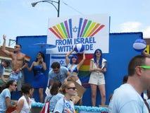 CHICAGO, IL. JUNI 2012 de vlotter van Israël bij vrolijke paradea stock afbeelding