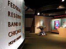 CHICAGO, IL, U S A , EL 25 DE MAYO DE 2018: Una visión desde el museo del dinero del banco de Federal Reserve de Chicago imagenes de archivo