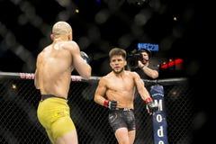 Cejudo vs Moraes at UFC 238 stock photo