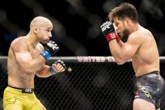 Cejudo vs Moraes at UFC 238 royalty free stock images