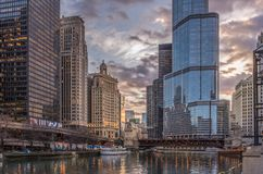 Chicago,IL,USA,April 6 2017:Trump International Hotel and Tower,for editorial use only royalty free stock photo