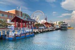 Chicago, IL/USA - cerca do julho de 2015: Cais da marinha em Chicago, Illinois Imagem de Stock