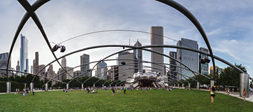 Chicago, IL/USA - circa July 2015: People at Jay Pritzker Pavilion at Millennium Park in Chicago,  Illinois Royalty Free Stock Image