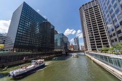 Chicago, IL/USA - circa July 2015: Streets of Downtown Chicago,  Illinois Royalty Free Stock Photo