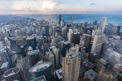 Chicago, IL/USA - circa July 2015: View of Downtown Chicago from Willis  Tower Royalty Free Stock Image