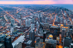 Chicago, IL/USA - circa July 2015: View of Downtown Chicago from Willis  Tower Royalty Free Stock Photography