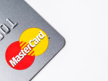 Chicago,IL,USA,Feb-12,2017,Close up of a Master Card Credit Card for editorial use only Royalty Free Stock Photo