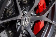 Acura NSX wheel badge stock image