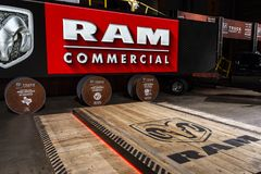 RAM presentation scene atthe 2019 Chicago Auto Show royalty free stock images