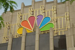 CHICAGO, IL, USA - NBC Tower Peacock Logo. Headquarters Facade. Stock Photo