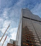 Bottom view of Willis Tower Royalty Free Stock Image