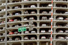 Marina City Tower Parking Deck in Chicago Royalty Free Stock Photos
