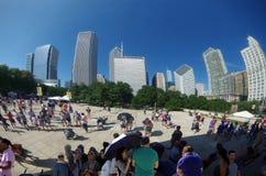 Chicago, IL, Vereinigte Staaten - 3. September 2017: Bewölken Sie Tor Chicago-` s im Jahrtausend-Park Lizenzfreie Stockbilder