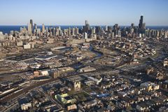 Chicago, Illinois. Aerial view of Chicago, Illinois Royalty Free Stock Image