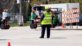 CHICAGO, ILLINOIS - April 30, 2015: Dichtbij gesloten het noorden zijweg stock videobeelden