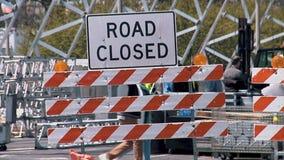 CHICAGO, ILLINOIS - April 30, 2015: Dichtbij gesloten het noorden zijweg stock video