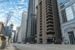Chicago, Illinois: 17 april, timelapse van 2019 van Chicago van de binnenstad stock footage