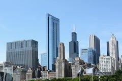 Chicago illinois Skyline. CHICAGO, ILLINOIS - AUGUST 22, 2015: Chicago Skyline. Chicago is know for is many styles of architecture Stock Images