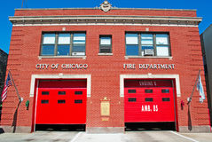Chicago, Illinois: Chicago Fire Department in Chinatown on September 23, 2014. Chicago, Illinois, United States of America, Usa stock photography