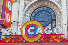 Chicago, Illinois: the Chicago Theatre on September 22, 2014 Stock Images