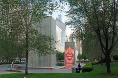 Chicago, Illinois: Crown Fountain by Jaume Plensa in Millennium Park Stock Photos