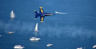Chicago, Illinois - de V.S. - 19 Augustus, 2017: De Lucht van Chicago toont Marine Stock Afbeelding