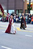 Chicago, Illinois, de V.S.: 23,2017 november: Thanksgiving dayparade in Chicago Royalty-vrije Stock Fotografie