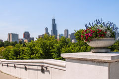 Chicago Illinois downtown skyline Stock Images