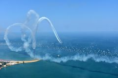 Chicago, Illinois - EUA - 19 de agosto de 2017: O Lago Michigan Chicago Imagem de Stock Royalty Free